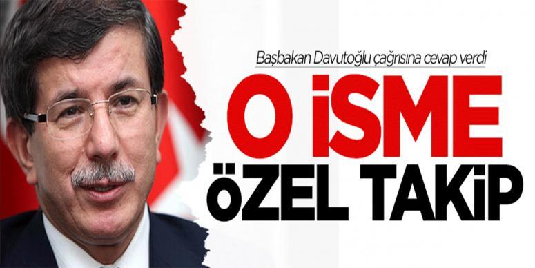 Başbakan Davutoğlu'ndan o gence özel takip