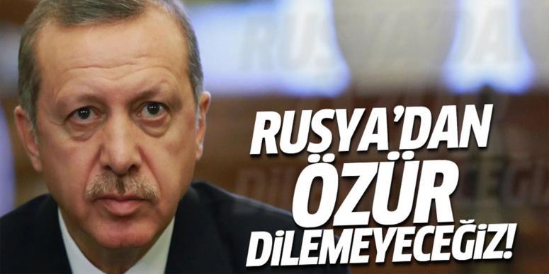 Erdoğan'dan özür açıklaması