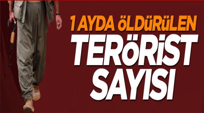Son 1 ayda 814 terörist öldürüldü