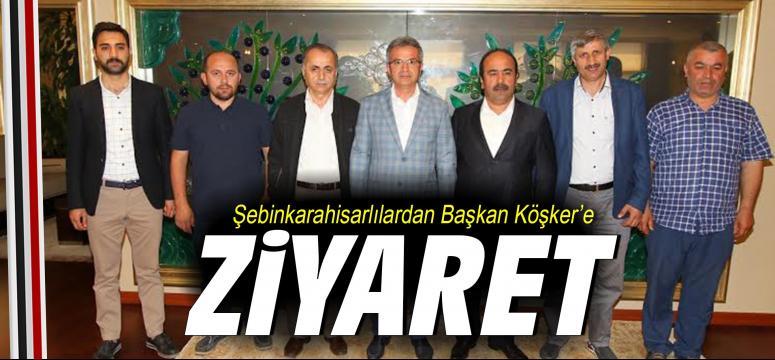 Şebinkarahisarlılardan Başkan Köşker'e Ziyaret