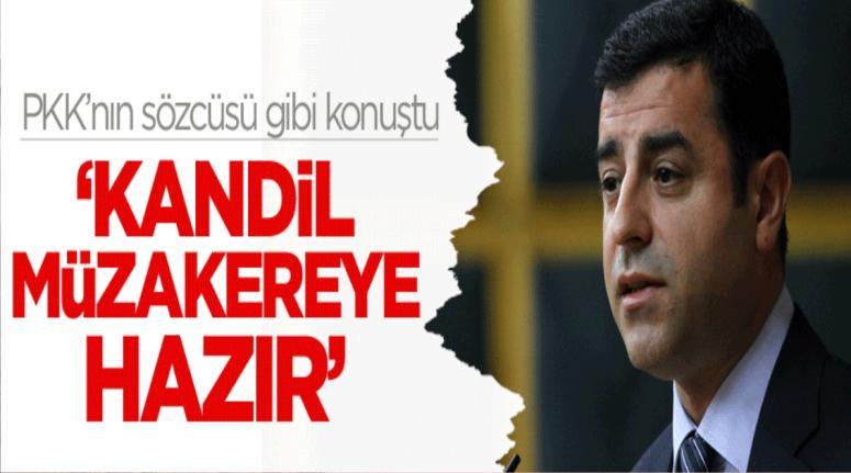 Selahattin Demirtaş: Kandil müzakereye hazır