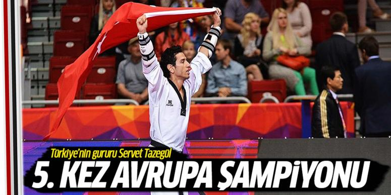 Servet Tazegül 5. kez Avrupa şampiyonu