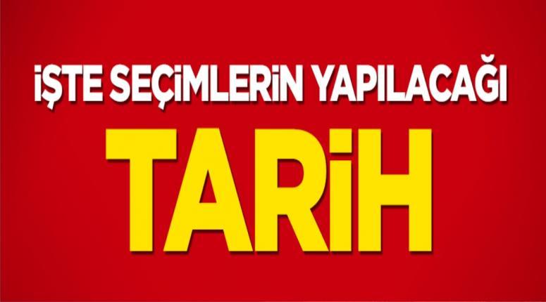 YSK'nın seçim takvimi 1 Kasım!