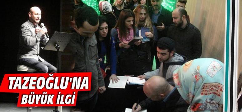 Tazeoğlu Gebze'de okurlarıyla buluşturdu