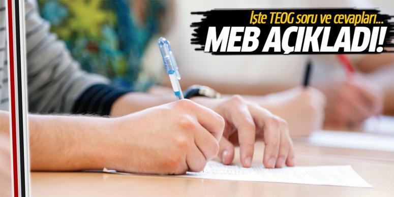 TEOG sınav soruları ve cevapları yayınlandı!