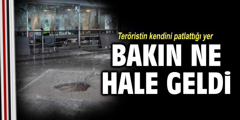 Teröristin kendini patlattığı yer ne hale geldi