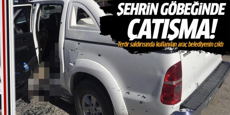 Teröristlerin aracı HDP'li belediyenin çıktı!