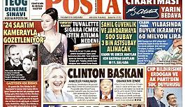 Posta Gazetesi 'Clinton başkan' manşetiyle çıktı
