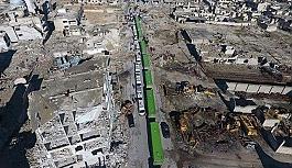 Halep'te ilk tahliye konvoyu rejimin kontrol noktasından geçti