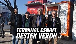 Terminal Esnafı destek verdi!
