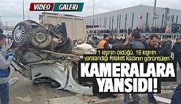 Gebze'deki dehşet kaza kameralara böyle yansıdı!