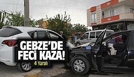 Gebze'de feci kaza! 4 Yaralı