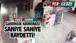 Gebze'deki hırsızlık kameralara...