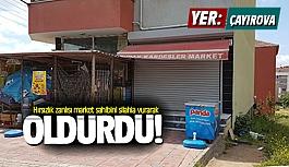 Hırsızlık zanlısı market sahibini...