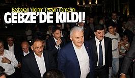 Başbakan Yıldırım Teravih namazını...