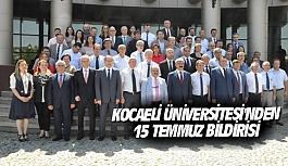 Kocaeli Üniversitesi'nden 15 Temmuz bildirisi