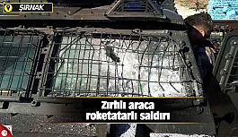 Zırhlı araca roketatarlı saldırı