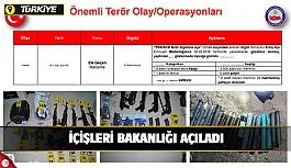İçişleri Bakanlığı: Son 1 hafta içinde yurt içinde toplam 25 terörist etkisiz hale getirildi