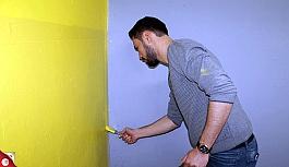 Silopi'de öğretmenler, yarıyıl tatillerini sınıfları boyayarak geçirdi