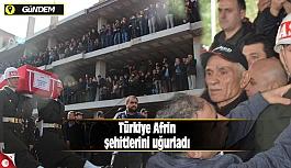Türkiye Afrin şehitlerini uğurladı