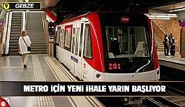 Gebze Metrosu için yeni ihale