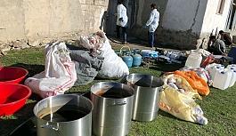 Van'da uyuşturucu imalathanesine operasyon: 5 gözaltı