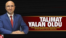 Şemsettin Ceyhan'ın Ankara talimatı...