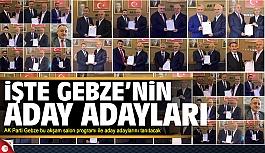 AK Parti Gebze aday adaylarını tanıtıyor...