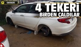 Gebze'de tekerlek hırsızları boş durmuyor