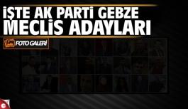 AK Parti Gebze Meclis Üyesi Listesi...