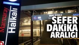 Marmaray Gebze-Halkalı hattı sefer...