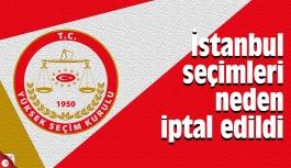 İstanbul seçimleri neden iptal edildi