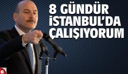 Soylu, 8 gündür İstanbul'da çalışıyorum
