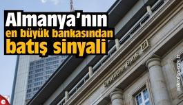 Alman devi Deutsche Bank'tan batış sinyali