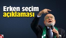 Temel Karamollaoğlu'ndan erken seçim açıklaması