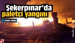 Çayırova'da palet imalathanesi yandı