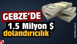 Gebze'de 1.5 milyon dolar dolandırıcılık