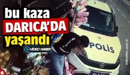 Darıca'da polis aracı, yol kenarındaki gence çarptı