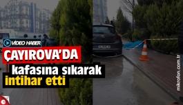 Çayırova'da konkunç intihar! Kaldırımda kafasına sıktı