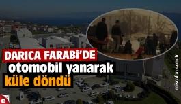 Darıca Farabi'de otomobil yangını