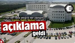Anadolu Sağlık Merkezi'nden koronavirüs açıklaması