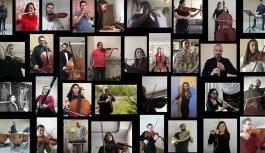 Balkan Senfoni Orkestrası'dan evde İstiklal Marşı