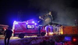 İstanbul'da inşaat alanında yangın