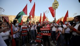 """İsrail'in """"ilhak"""" planı Tel Aviv'de protesto edildi"""