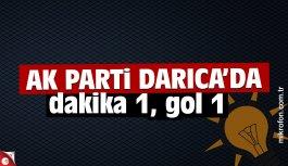 AK Parti Darıca'da dakika 1, gol 1!