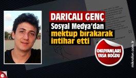 Darıcalı genç Furkan Celep'in intihar mektubu