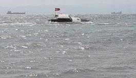 Tekirdağ'da karaya oturan teknedeki 3 kişi sahil güvenlik ekiplerince kurtarıldı