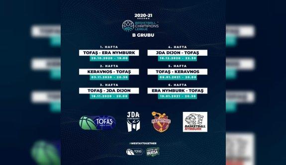 TOFAŞ'ın FIBA Şampiyonlar Ligi'ndeki maçlarının programı belli oldu