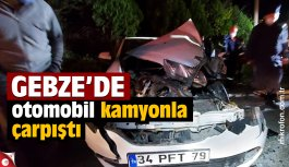 Gebze'de kamyonla çarpışan otomobilin sürücüsü yaralandı