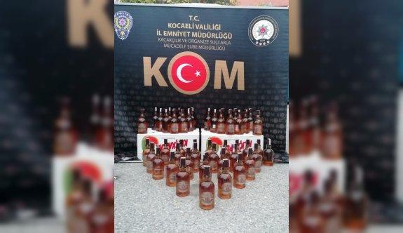 Kocaeli'deki sahte içki operasyonunda 2 zanlı gözaltına alındı
